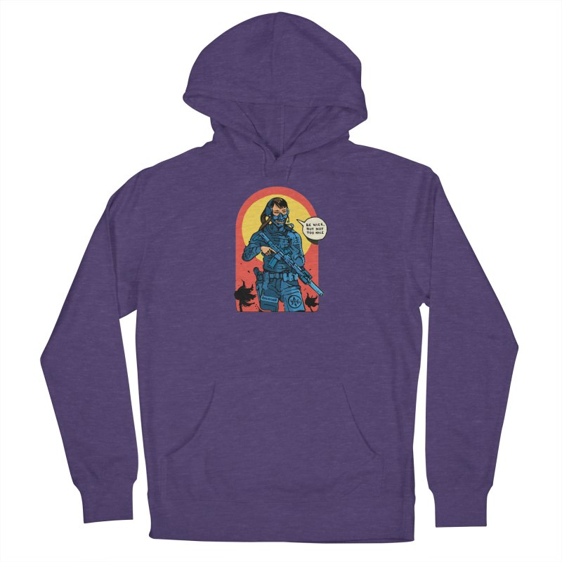 Be Nice (but not too nice) Men's Pullover Hoody by Attention®