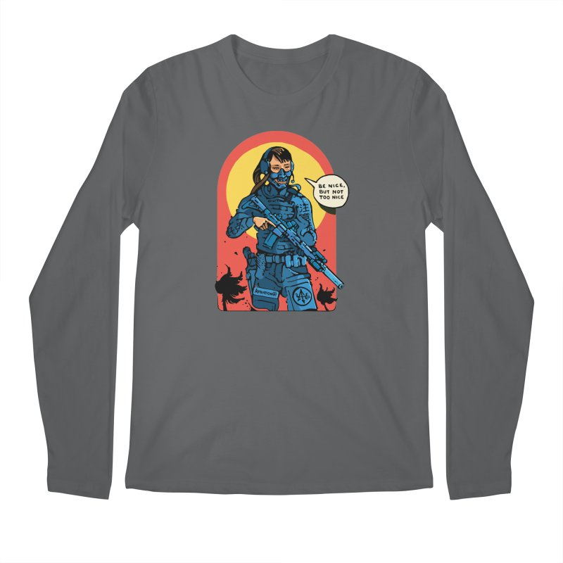 Be Nice (but not too nice) Men's Longsleeve T-Shirt by Attention®