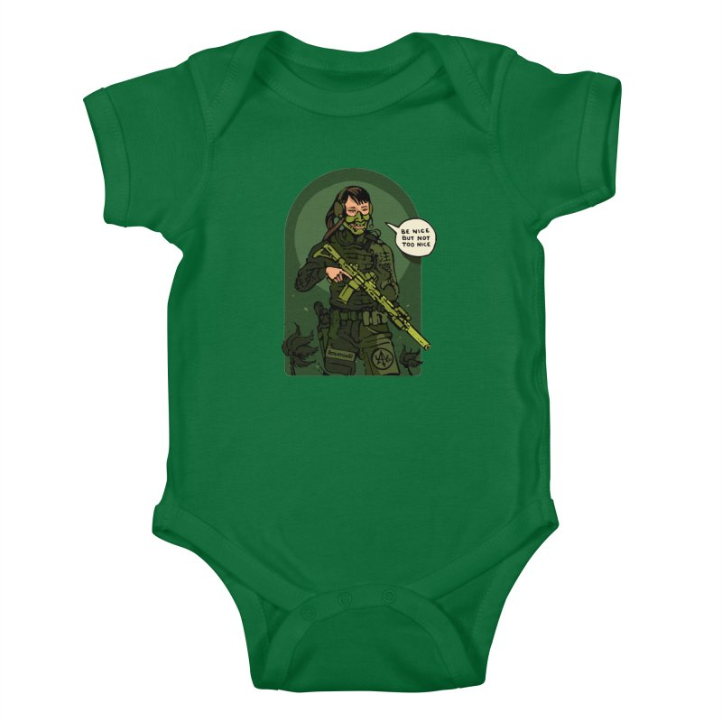 Be Nice (but not too nice) 2 Kids Baby Bodysuit by Attention®