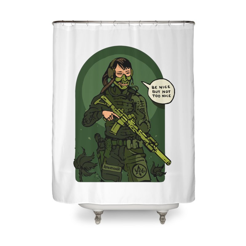 Be Nice (but not too nice) 2 Home Shower Curtain by Attention®