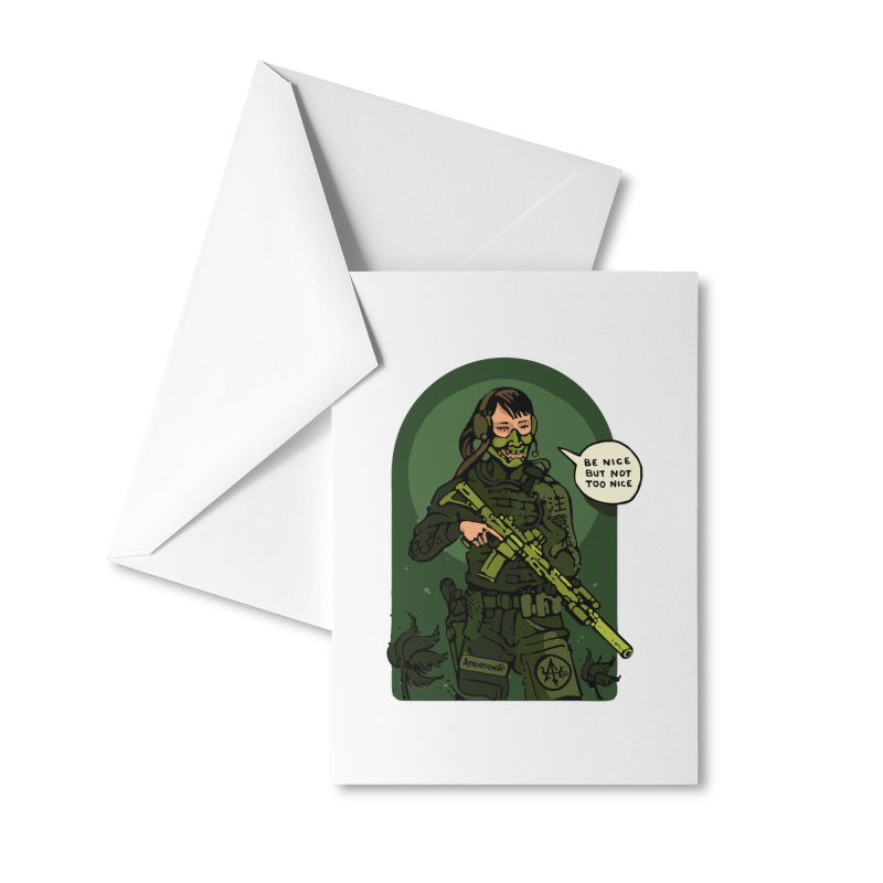 Be Nice (but not too nice) 2 Accessories Greeting Card by Attention®