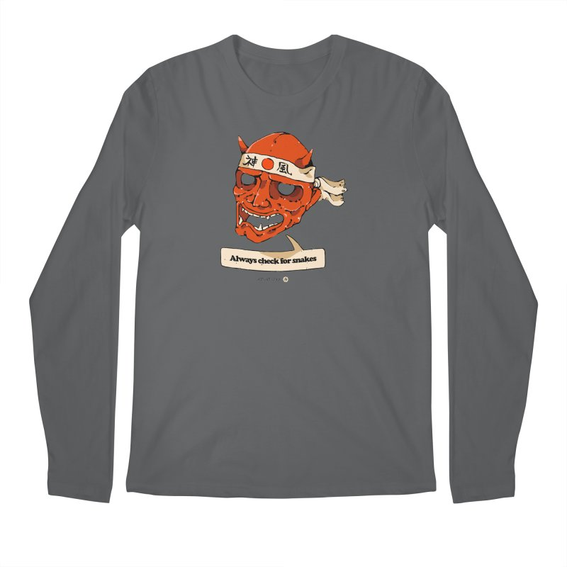 Kamikaze Hannya Men's Longsleeve T-Shirt by Attention®