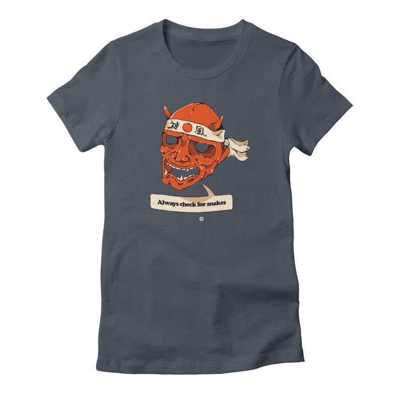 Kamikaze Hannya Women's T-Shirt by Attention®