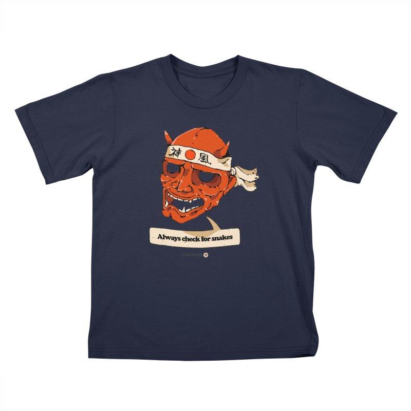 Kamikaze Hannya Kids T-Shirt by Attention®