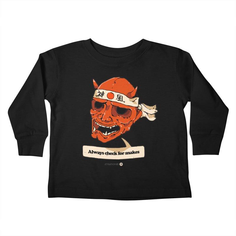 Kamikaze Hannya Kids Toddler Longsleeve T-Shirt by Attention®