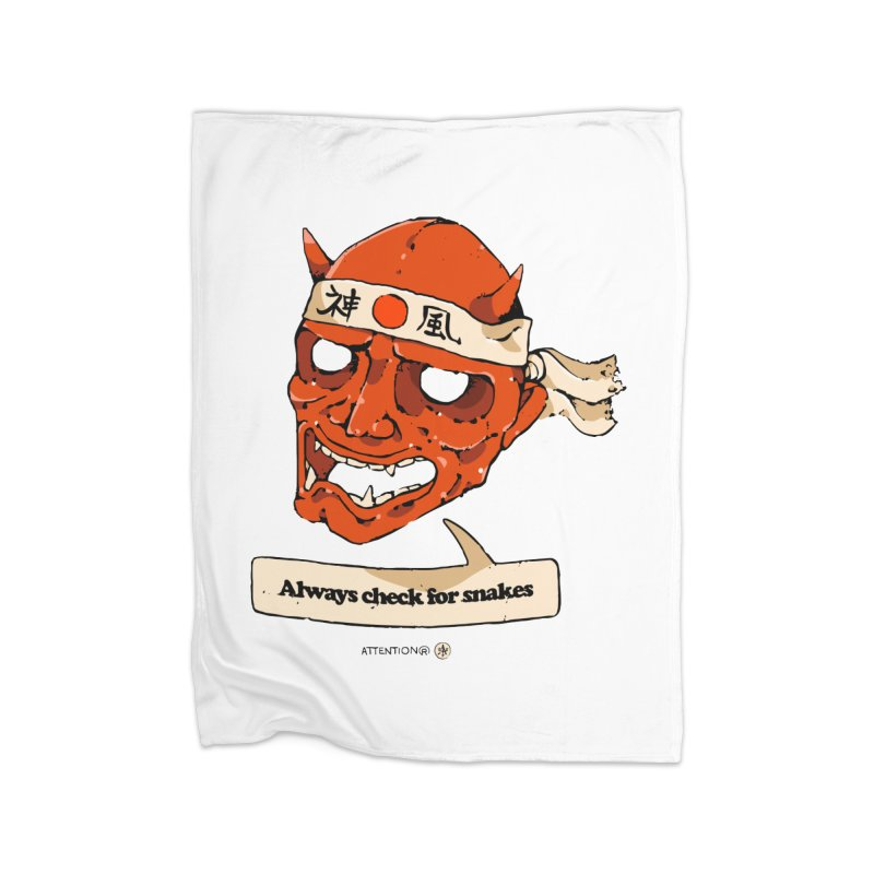 Kamikaze Hannya Home Blanket by Attention®