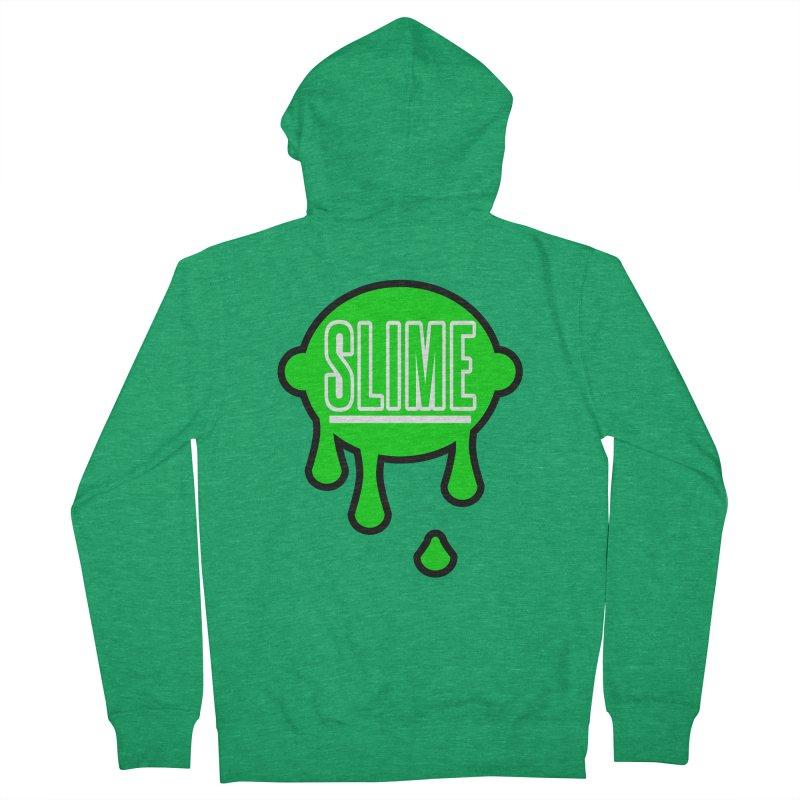 SLIME Men's Zip-Up Hoody by atumatik's Artist Shop