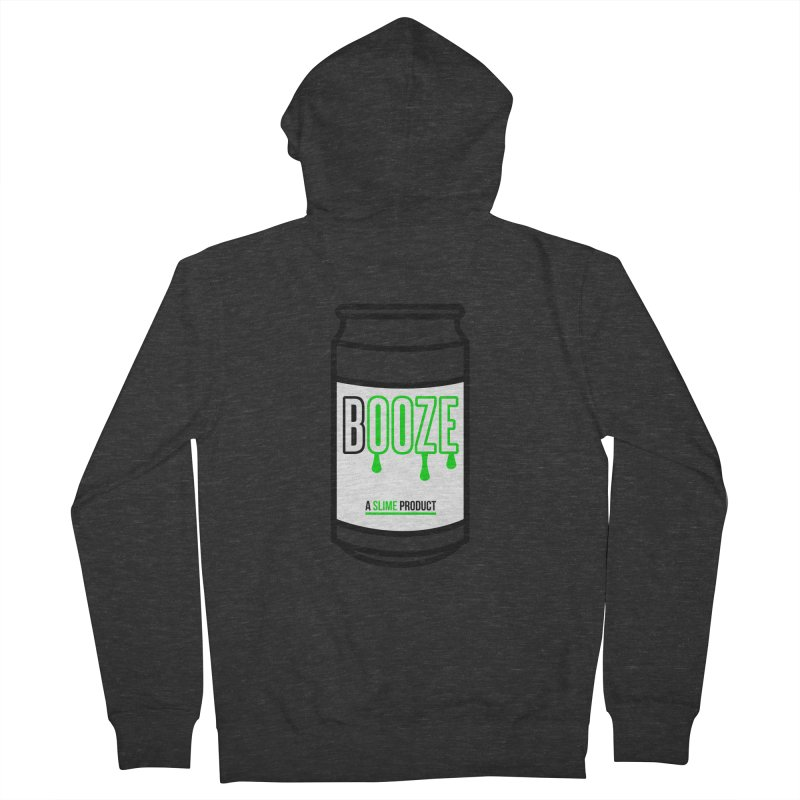 BOOZE Men's Zip-Up Hoody by atumatik's Artist Shop
