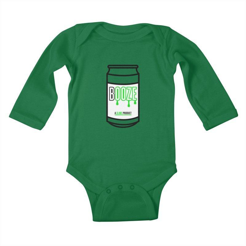 BOOZE Kids Baby Longsleeve Bodysuit by atumatik's Artist Shop