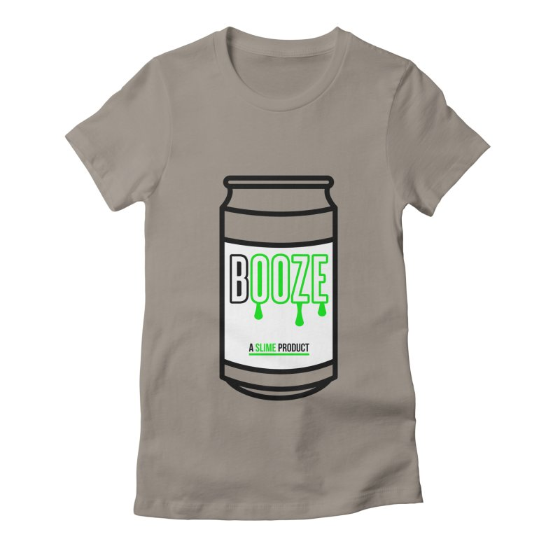 BOOZE Women's Fitted T-Shirt by atumatik's Artist Shop