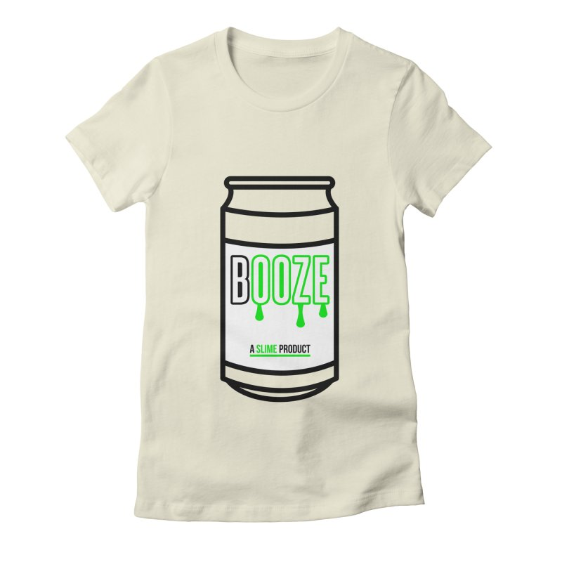 BOOZE Women's Fitted T-Shirt by atumatik's Artist Shop
