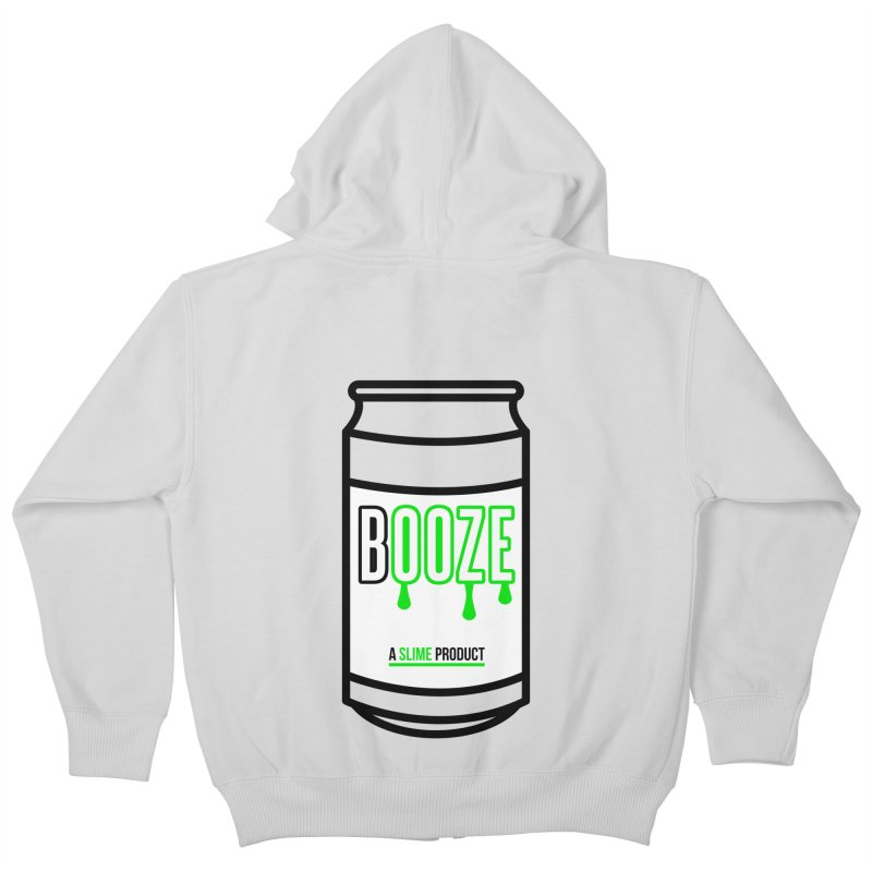 BOOZE Kids Zip-Up Hoody by atumatik's Artist Shop
