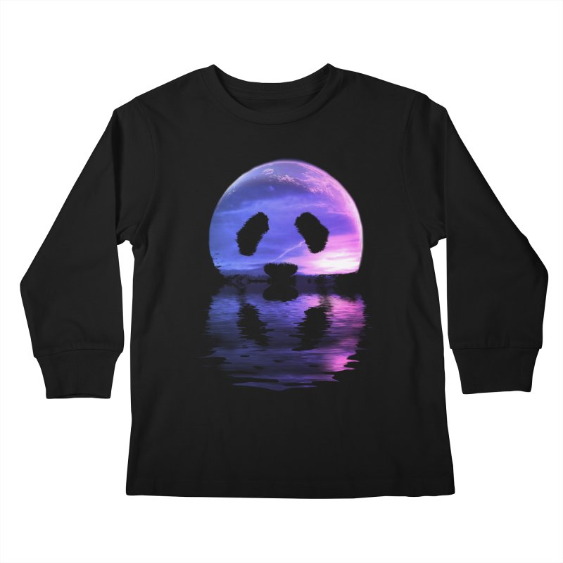 PANDAMOON Kids Longsleeve T-Shirt by audi's Artist Shop