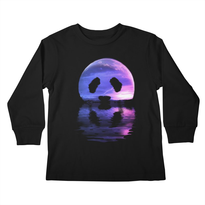 PANDAMOON Kids Longsleeve T-Shirt by audi's Artist Shop
