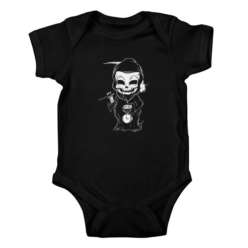 baby grim Kids Baby Bodysuit by audi's Artist Shop