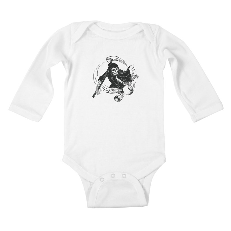 death ride Kids Baby Longsleeve Bodysuit by audi's Artist Shop