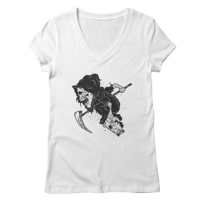 last grind Women's V-Neck by audi's Artist Shop
