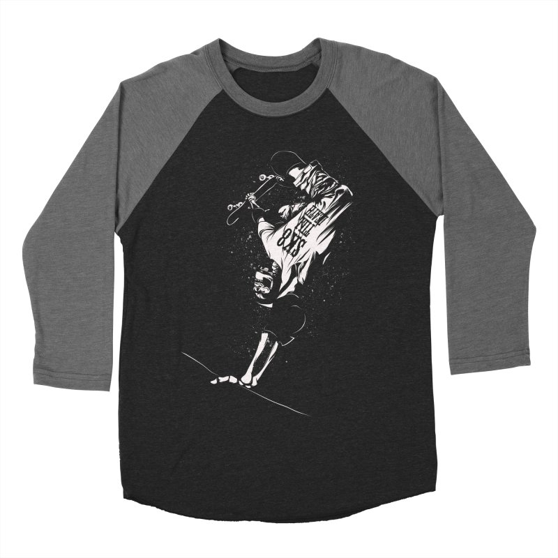 sk8 Women's Baseball Triblend T-Shirt by audi's Artist Shop