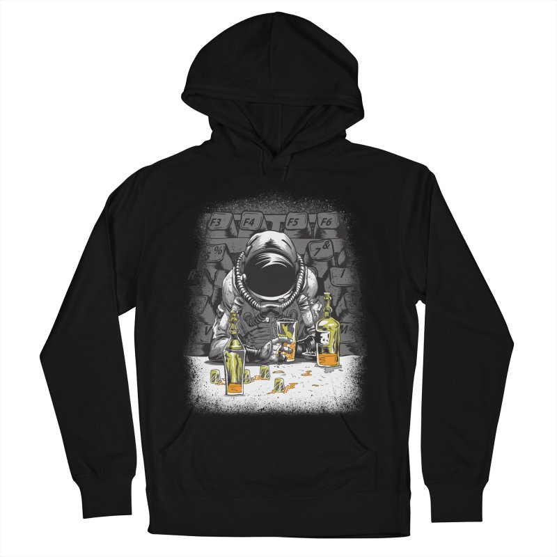 spacebar Women's French Terry Pullover Hoody by audi's Artist Shop