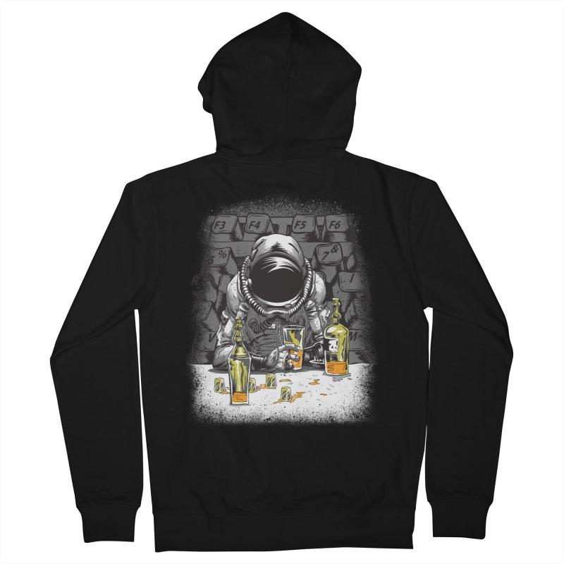 spacebar Men's Zip-Up Hoody by audi's Artist Shop