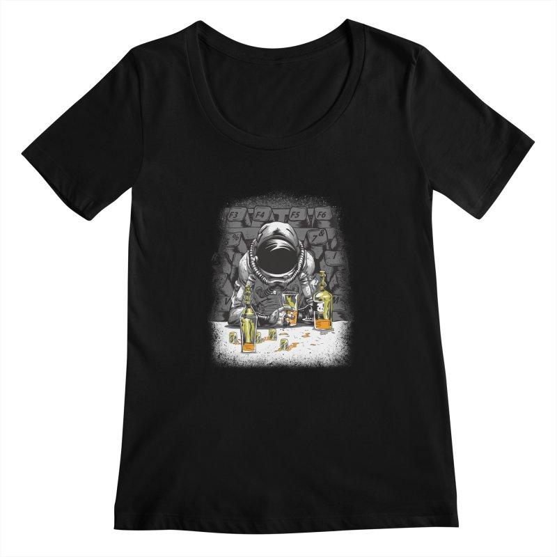 spacebar Women's Scoopneck by audi's Artist Shop