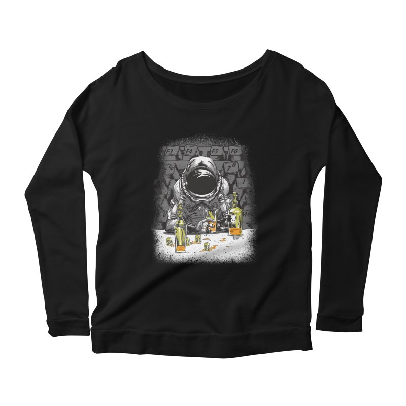 spacebar Women's Longsleeve Scoopneck  by audi's Artist Shop