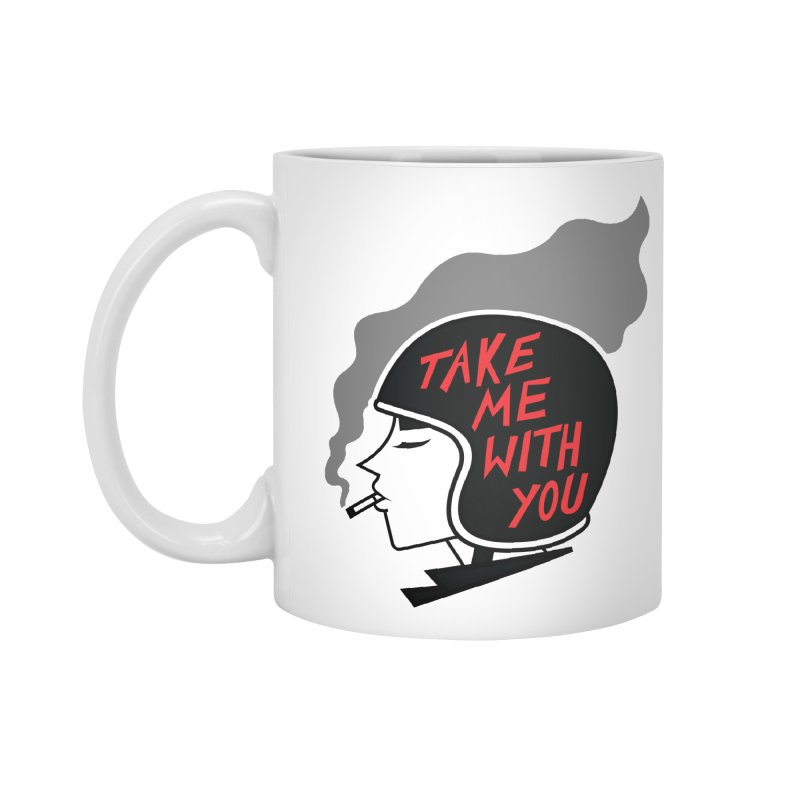 Take Me With You (Black on White) Accessories Standard Mug by audreyhansa's Artist Shop