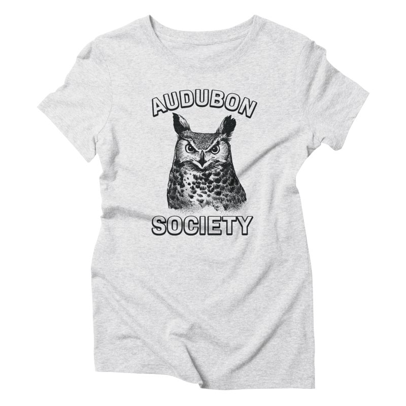 Vintage Owl Women's Triblend T-Shirt by Official National Audubon Society Retail Store