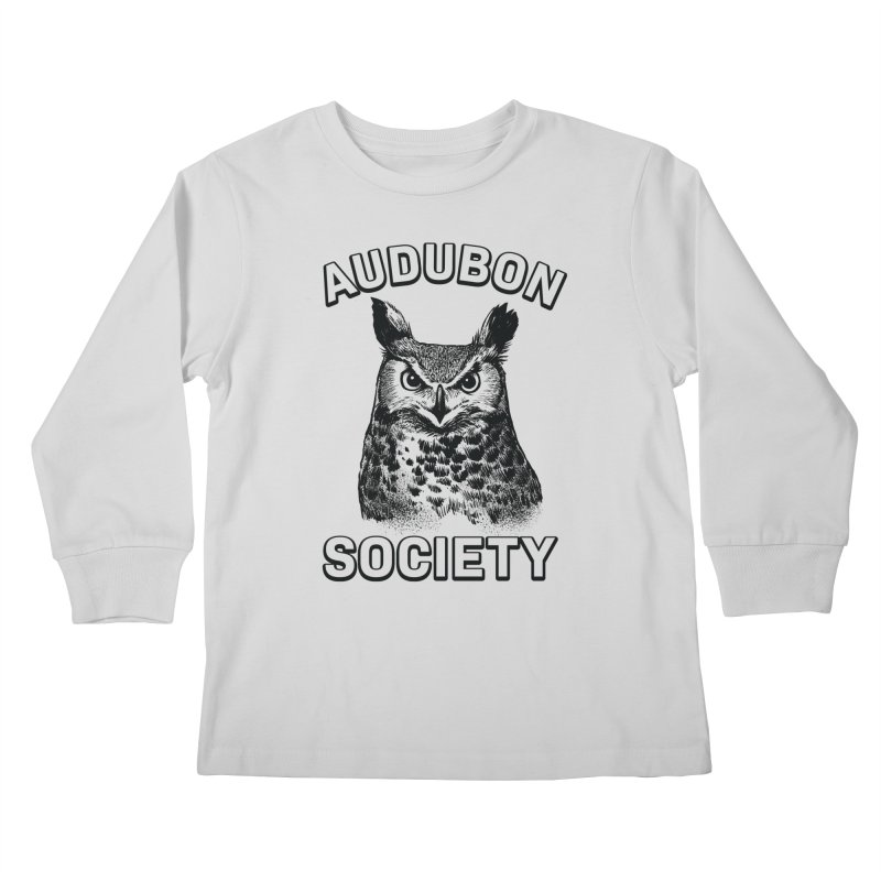 Vintage Owl Kids Longsleeve T-Shirt by Official National Audubon Society Retail Store