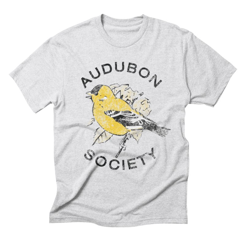 Vintage Goldfinch Men's Triblend T-Shirt by Official National Audubon Society Retail Store