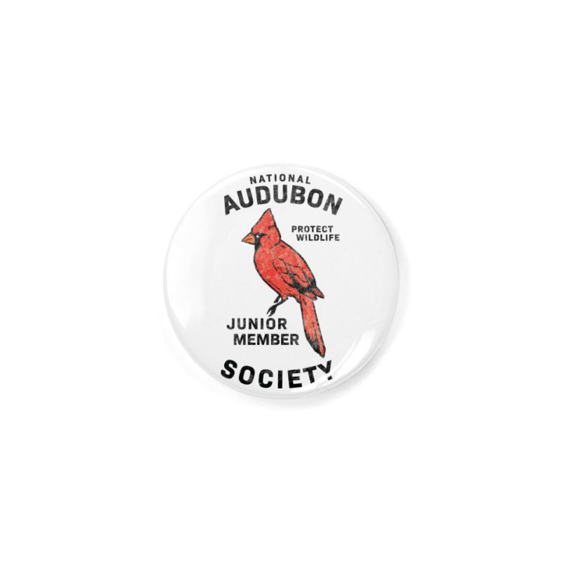 Vintage Cardinal Junior Member Accessories Button by Official National Audubon Society Retail Store