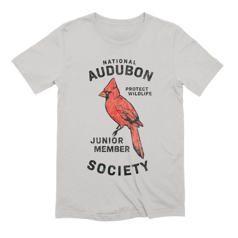 Vintage Cardinal Junior Member Men's T-Shirt by Official National Audubon Society Retail Store