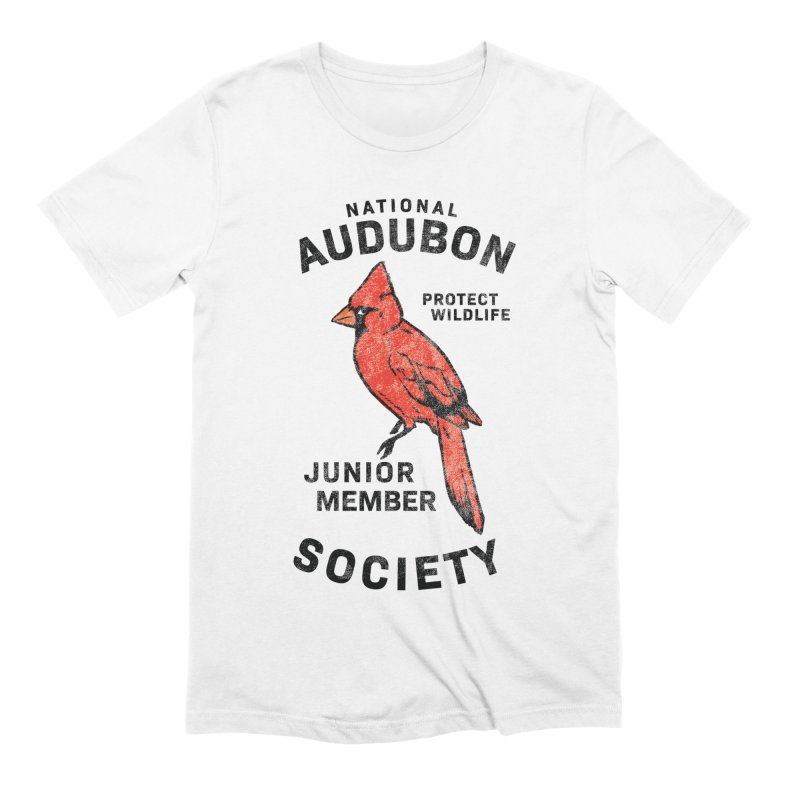 Vintage Cardinal Junior Member Men's Extra Soft T-Shirt by Official National Audubon Society Retail Store