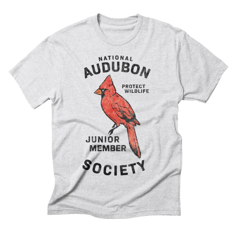 Vintage Cardinal Junior Member Men's Triblend T-Shirt by Official National Audubon Society Retail Store