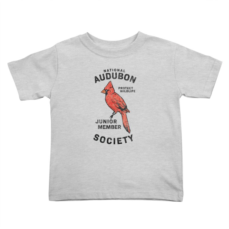 Vintage Cardinal Junior Member Kids Toddler T-Shirt by Official National Audubon Society Retail Store