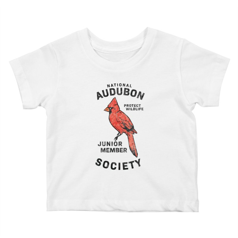 Vintage Cardinal Junior Member Kids Baby T-Shirt by Official National Audubon Society Retail Store