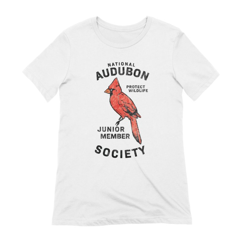 Vintage Cardinal Junior Member Women's T-Shirt by Official National Audubon Society Retail Store