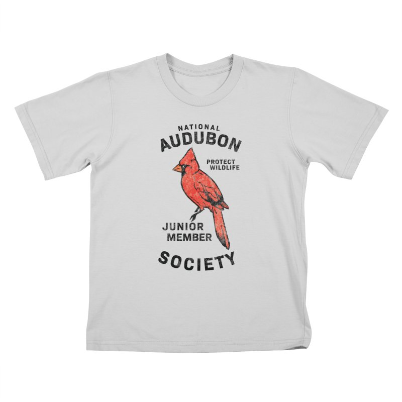 Vintage Cardinal Junior Member Kids T-Shirt by Official National Audubon Society Retail Store