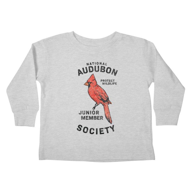 Vintage Cardinal Junior Member Kids Toddler Longsleeve T-Shirt by Official National Audubon Society Retail Store