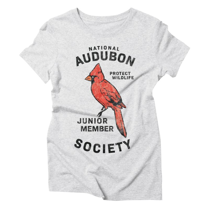 Vintage Cardinal Junior Member Women's Triblend T-Shirt by Official National Audubon Society Retail Store