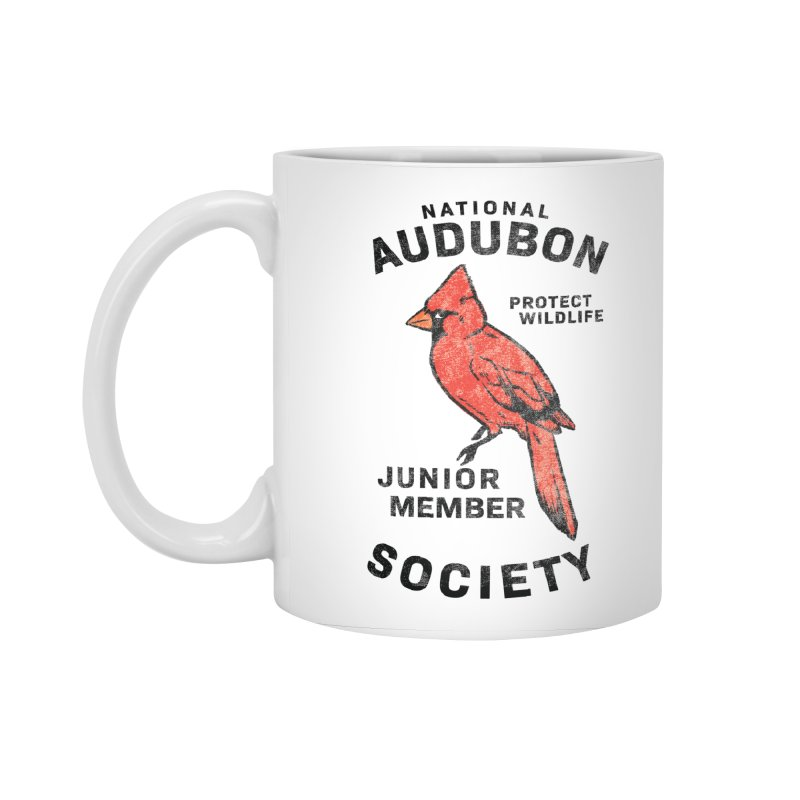 Vintage Cardinal Junior Member Accessories Standard Mug by Official National Audubon Society Retail Store