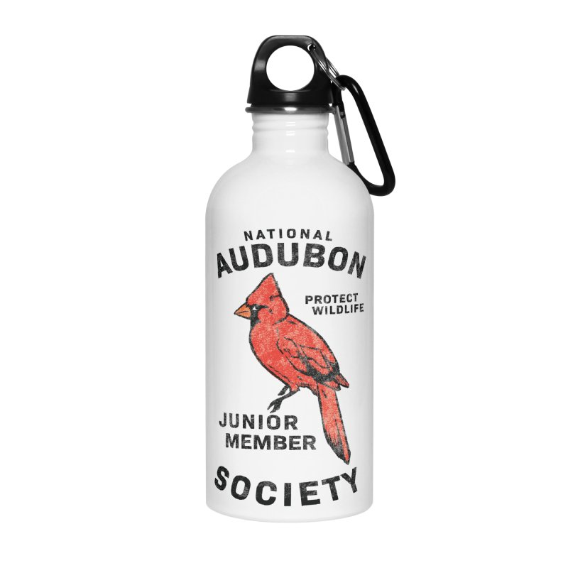 Vintage Cardinal Junior Member Accessories Water Bottle by Official National Audubon Society Retail Store