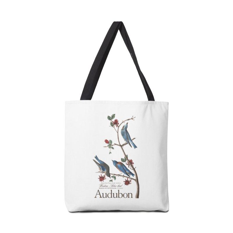 John James Audubon Bluebirds Accessories Tote Bag Bag by Official National Audubon Society Retail Store