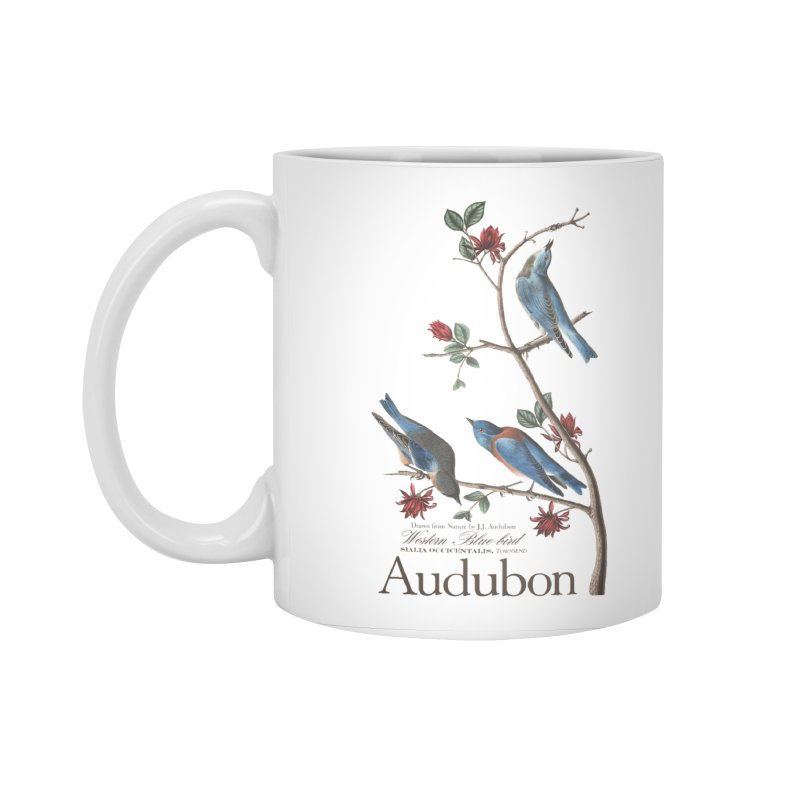 John James Audubon Bluebirds Accessories Standard Mug by Official National Audubon Society Retail Store