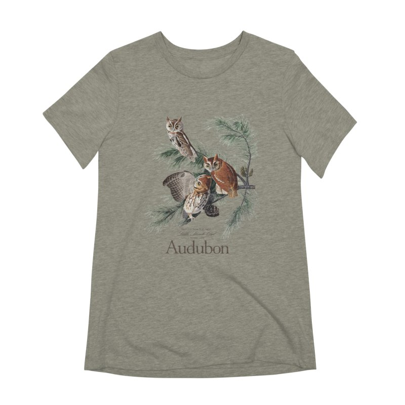 John James Audubon Screech Owls Women's T-Shirt by Official National Audubon Society Retail Store