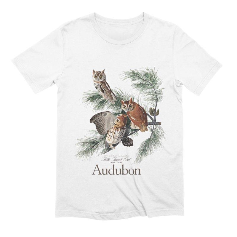 John James Audubon Screech Owls Men's Extra Soft T-Shirt by Official National Audubon Society Retail Store