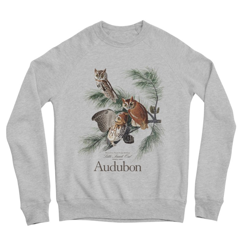 John James Audubon Screech Owls Women's Sponge Fleece Sweatshirt by Official National Audubon Society Retail Store