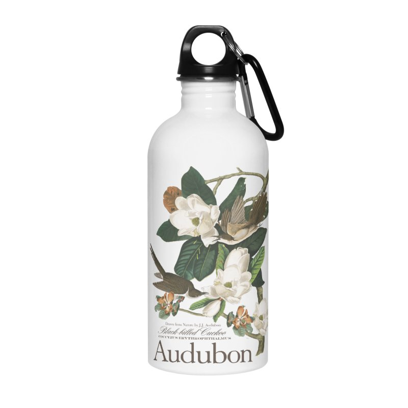 John James Audubon Cuckoo in Water Bottle by Official National Audubon Society Retail Store