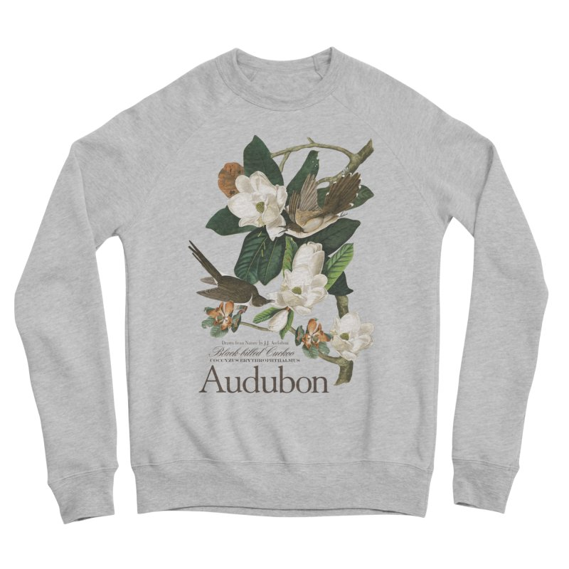 John James Audubon Cuckoo Women's Sponge Fleece Sweatshirt by Official National Audubon Society Retail Store