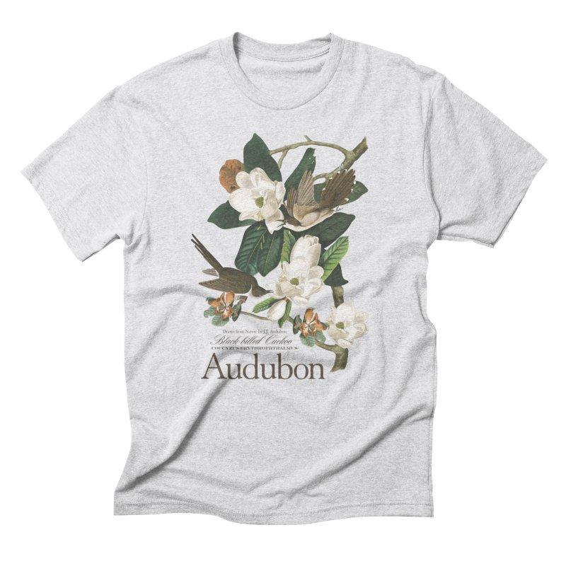 John James Audubon Cuckoo Men's Triblend T-Shirt by Official National Audubon Society Retail Store